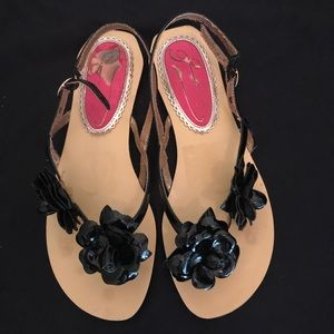 Shoes - Sandals featuring Roses.